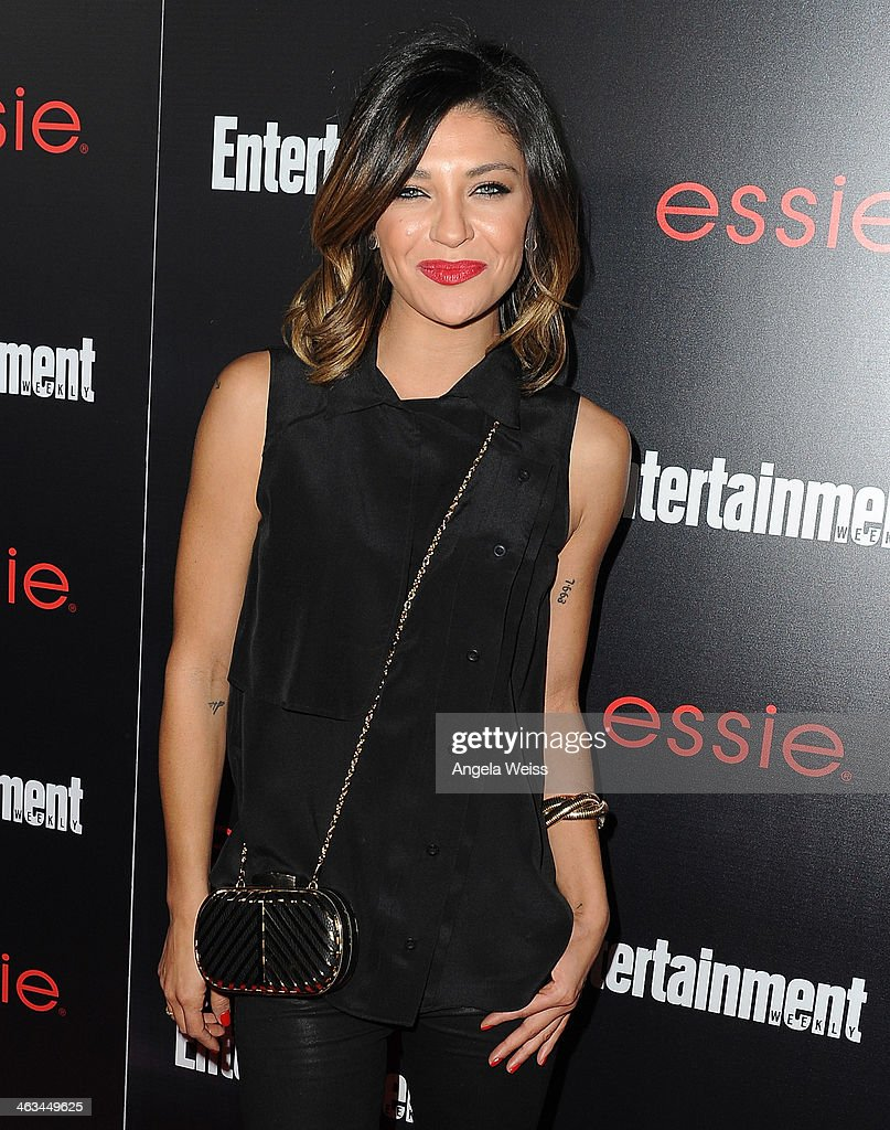 Actress <a gi-track='captionPersonalityLinkClicked' href=/galleries/search?phrase=Jessica+Szohr&family=editorial&specificpeople=4503387 ng-click='$event.stopPropagation()'>Jessica Szohr</a> attends the Entertainment Weekly celebration honoring this year's SAG Awards nominees sponsored by TNT & TBS and essie at Chateau Marmont on January 17, 2014 in Los Angeles, California.
