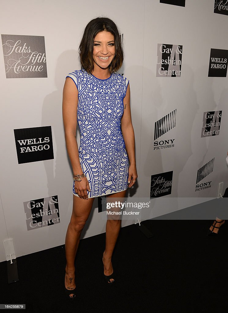 Actress Jessica Szohr attends the 'Evening Benefitting The L.A. Gay & Lesbian Center Honoring Amy Pascal and Ralph Rucci' at the Beverly Wilshire Four Seasons Hotel on March 21, 2013 in Beverly Hills, California.