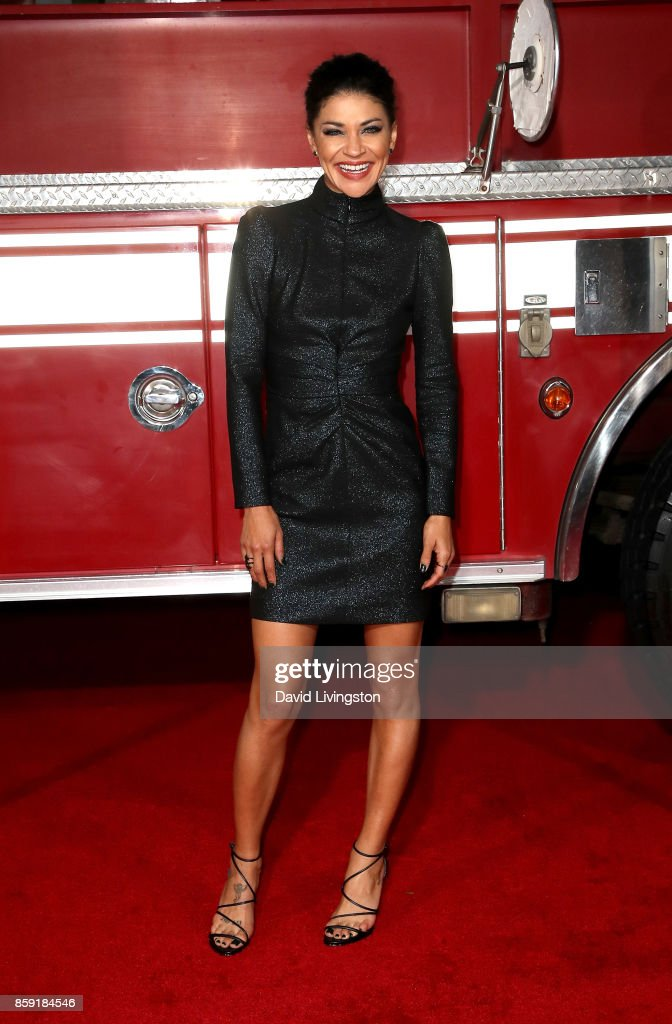 Actress Jessica Szohr attends the premiere of Columbia Pictures' 'Only the Brave' at Regency Village Theatre on October 8, 2017 in Westwood, California.
