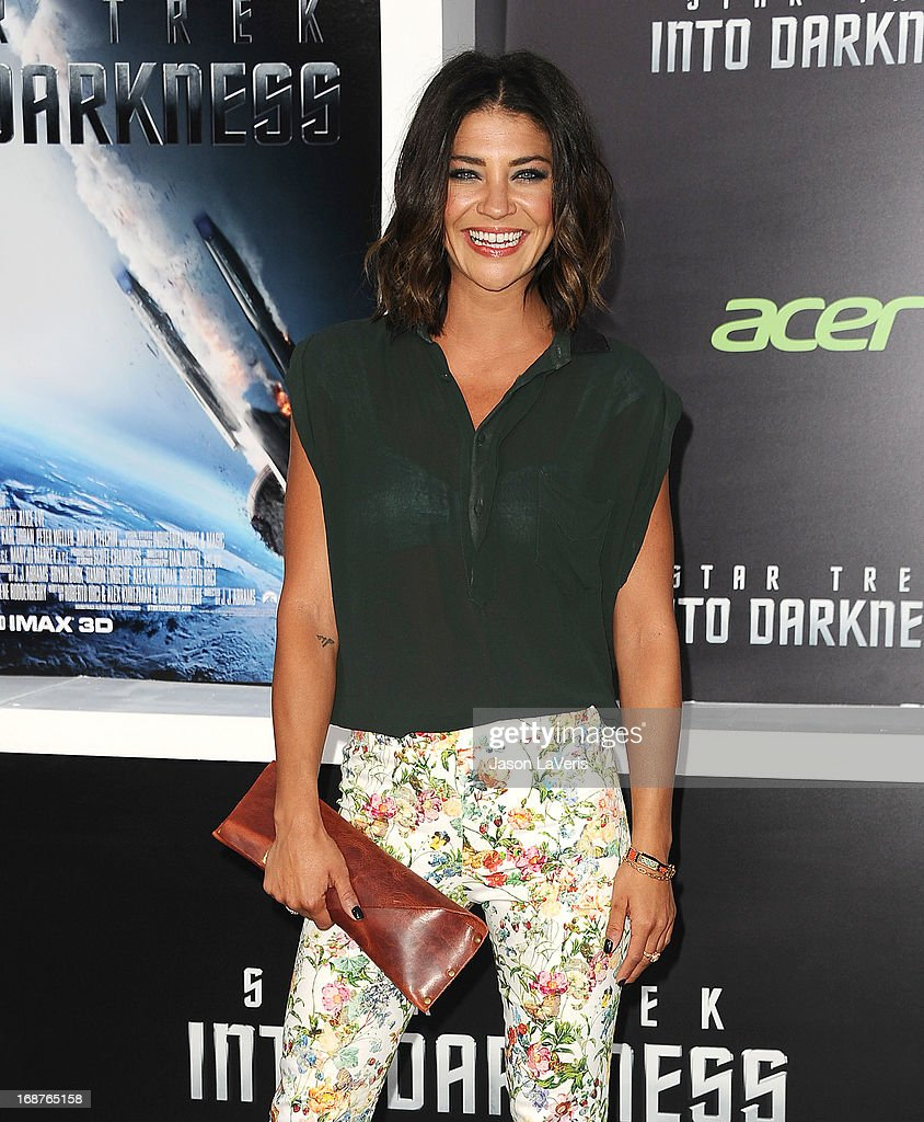 Actress Jessica Szohr attends the premiere of 'Star Trek Into Darkness' at Dolby Theatre on May 14, 2013 in Hollywood, California.