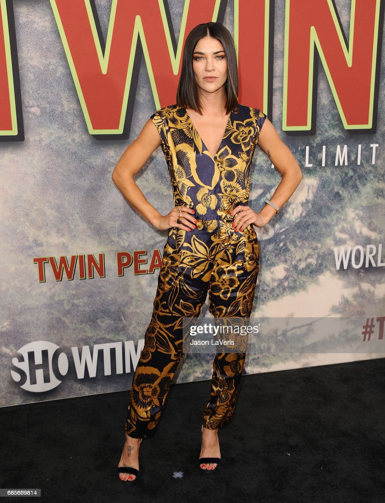Actress Jessica Szohr attends the premiere of 'Twin Peaks' at Ace Hotel on May 19, 2017 in Los Angeles, California.