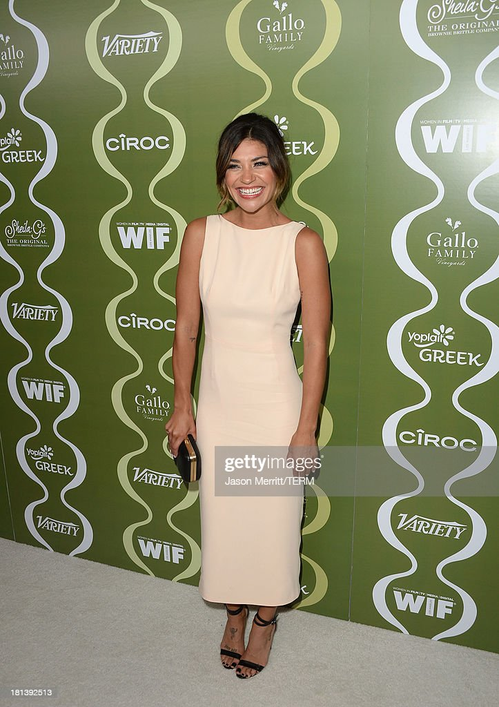 Actress <a gi-track='captionPersonalityLinkClicked' href=/galleries/search?phrase=Jessica+Szohr&family=editorial&specificpeople=4503387 ng-click='$event.stopPropagation()'>Jessica Szohr</a> attends Variety & Women In Film Pre-Emmy Event presented by Yoplait Greek at Scarpetta on September 20, 2013 in Beverly Hills, California.