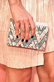 Actress Jessica Szohr handbag detail attends the 2015 iHeartRadio Music Awards which broadcasted live on NBC from The Shrine Auditorium on March 29...