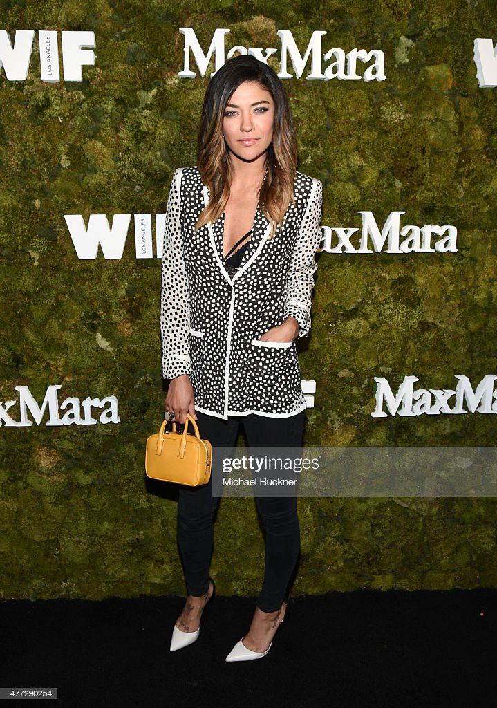 Actress Jessica Szohr wearing Max Mara attends The Max Mara 2015 Women In Film Face Of The Future event at Chateau Marmont on June 15 2015 in West...