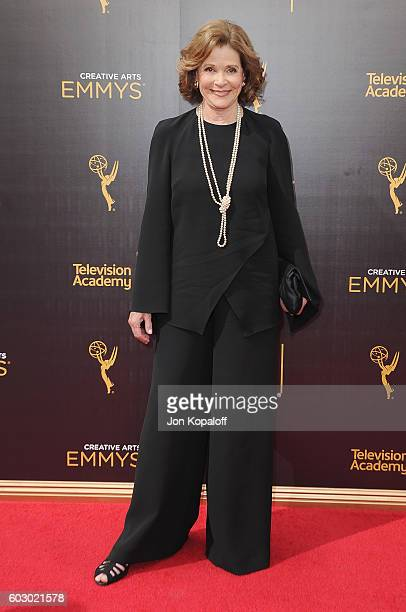 Actress Jessica Walter arrives at the 2016 Creative Arts Emmy Awards at Microsoft Theater on September 11 2016 in Los Angeles California