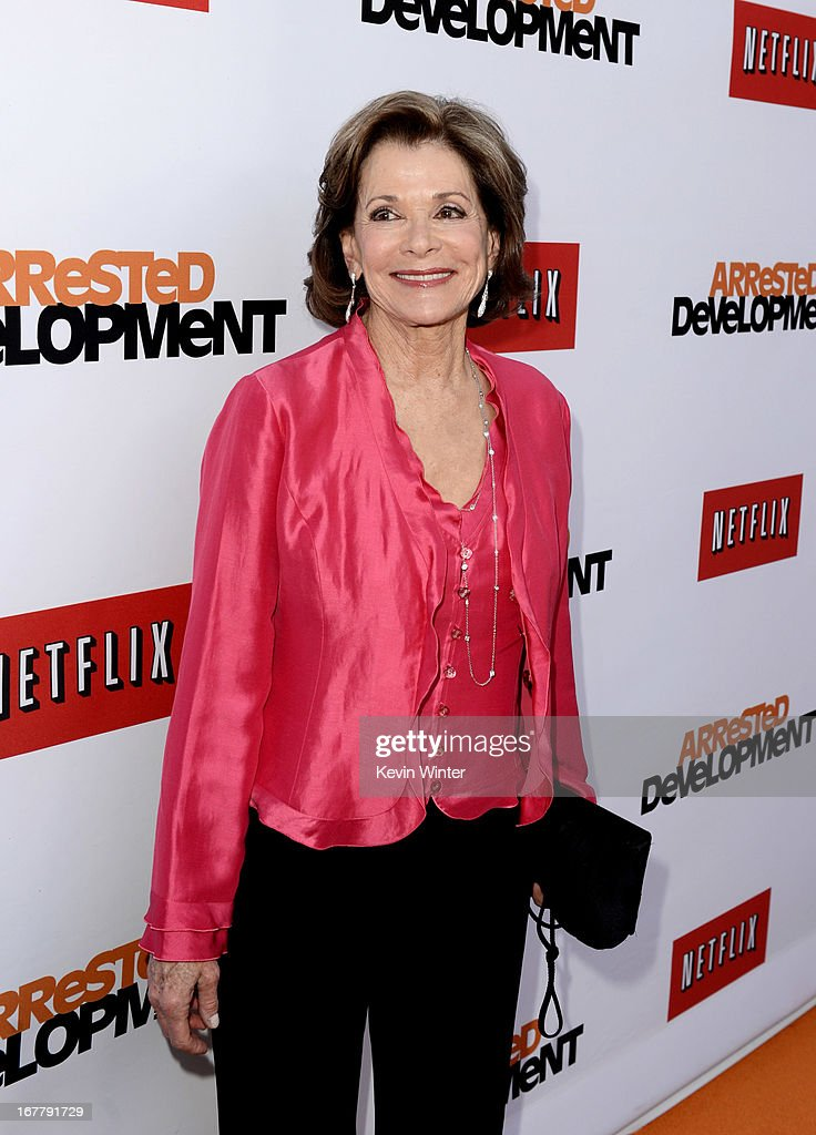 Actress Jessica Walter arrives at the premiere of Netflix's 'Arrested Development' Season 4 at the Chinese Theatre on April 29, 2013 in Los Angeles, California.