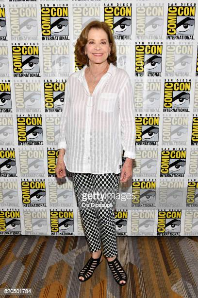 Actress Jessica Walter at FX's 'Archer' Press Line during ComicCon International 2017 at Hilton Bayfront on July 21 2017 in San Diego California
