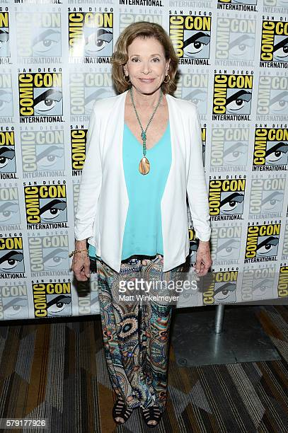 Actress Jessica Walter attends FX's 'Archer' Press Line during ComicCon International 2016 at Hilton Bayfront on July 22 2016 in San Diego California