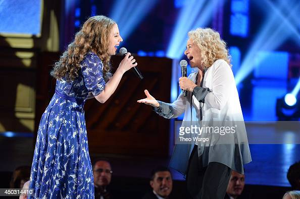 Actress Jessie Mueller and singer Carole King perform onstage during the 68th Annual Tony Awards at Radio City Music Hall on June 8 2014 in New York...
