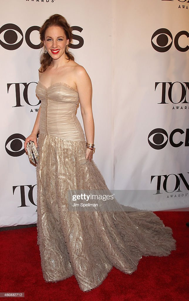 Actress <a gi-track='captionPersonalityLinkClicked' href=/galleries/search?phrase=Jessie+Mueller&family=editorial&specificpeople=8736414 ng-click='$event.stopPropagation()'>Jessie Mueller</a> attends American Theatre Wing's 68th Annual Tony Awards at Radio City Music Hall on June 8, 2014 in New York City.