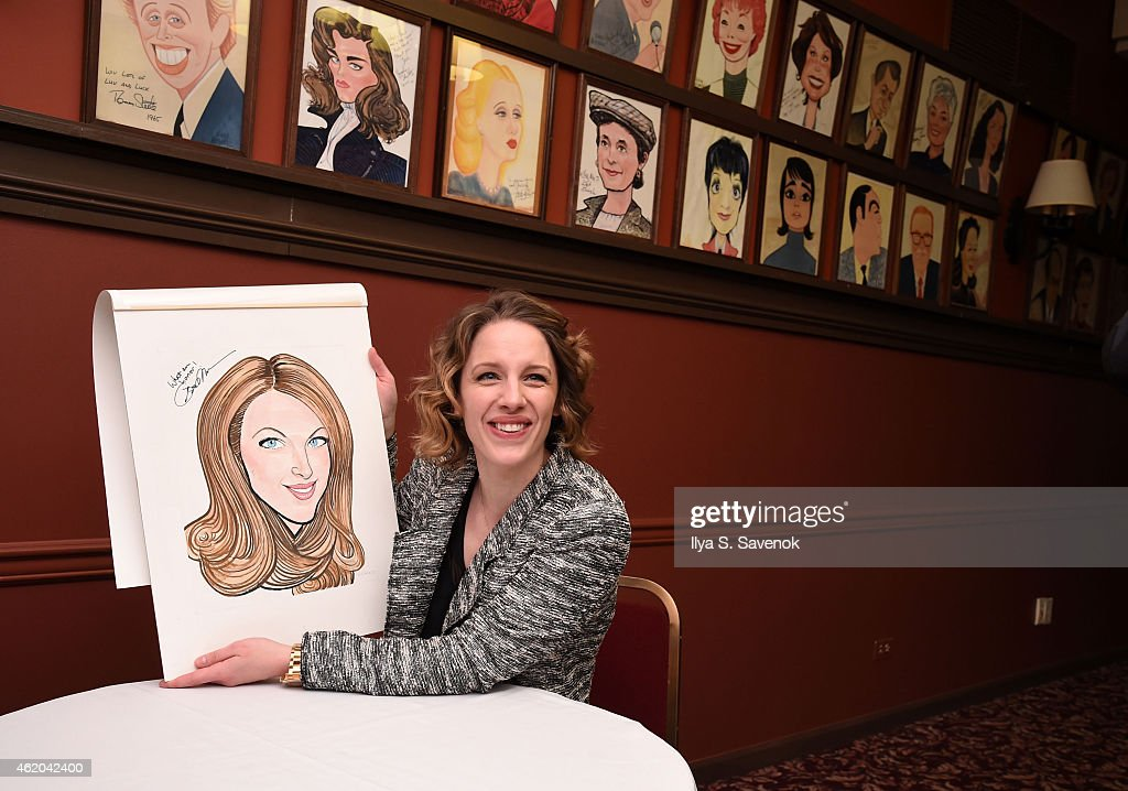 Actress Jessie Mueller attends Jessie Mueller's Caricature Unveiling at Sardi's on January 23 2015 in New York City