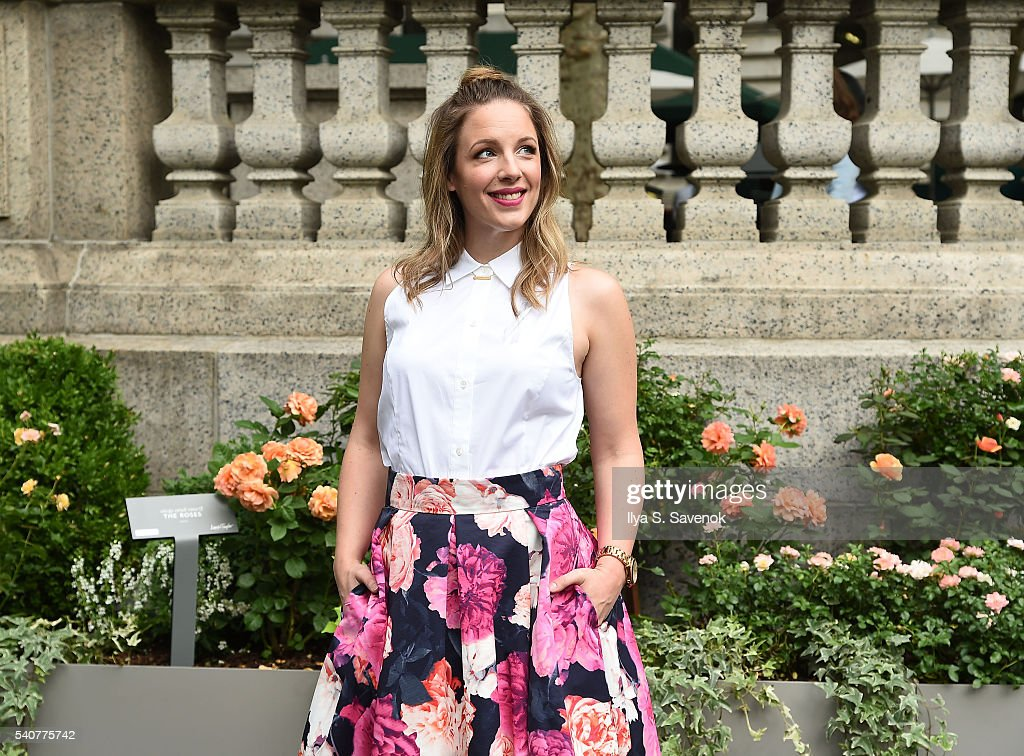 Actress Jessie Mueller poses by Lord Taylor Roses In Full Bloom At Bryant Park This Summer on June 16 2016 in New York City