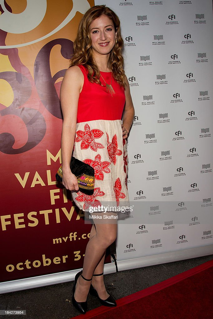Actress Jessy Hodges is arriving to the premiere of 'Beside Still Waters' on October 12, 2013 in Mill Valley, California.