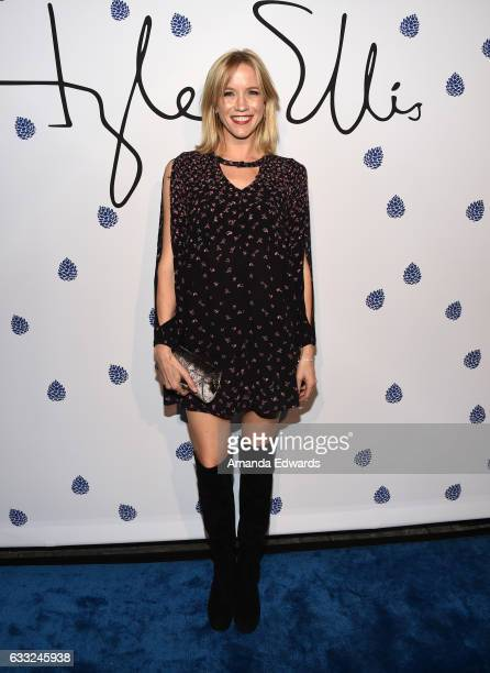 Actress Jessy Schram arrives at the Tyler Ellis 5th Anniversary party and launch of the Tyler Ellis x Petra Flannery Collection at Chateau Marmont on...