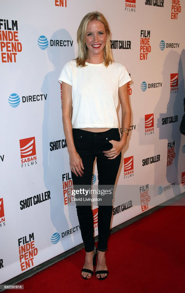 Actress Jessy Schram attends a screening of Saban Films and DIRECTV's 'Shot Caller' at The Theatre at Ace Hotel on August 15, 2017 in Los Angeles, California.