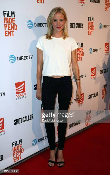 Actress Jessy Schram attends a screening of Saban Films and DIRECTV's 'Shot Caller' at The Theatre at Ace Hotel on August 15 2017 in Los Angeles...