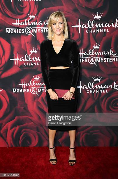 Actress Jessy Schram attends Hallmark Channel and Hallmark Movies and Mysteries Winter 2017 TCA Press Tour at The Tournament House on January 14 2017...