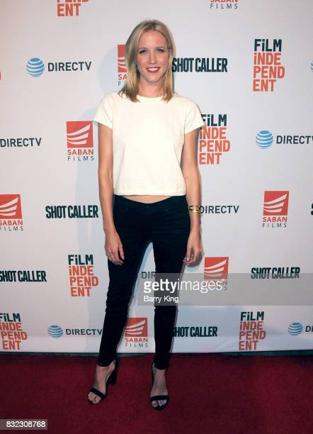 Actress Jessy Schram attends screening of Saban Films and DIRECTV's' 'Shot Caller' at The Theatre at Ace Hotel on August 15 2017 in Los Angeles...