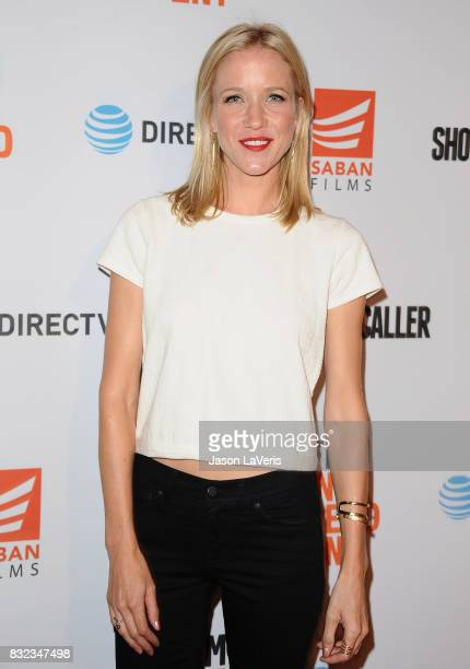 Actress Jessy Schram attends the premiere of 'Shot Caller' at The Theatre at Ace Hotel on August 15 2017 in Los Angeles California