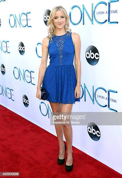 Actress Jessy Schram attends the Screening of ABC's 'Once Upon A Time' Season 4 at the El Capitan Theatre on September 21 2014 in Hollywood California
