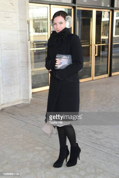 Actress Jill Flint is sighted at Lincoln Center on February 10 2011 in New York City