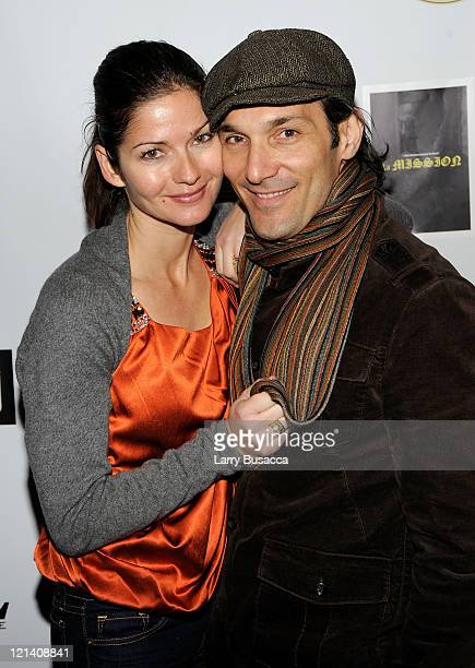 Actress Jill Hennessy and actor Paolo Mastropieto at the 'La MISSION' Party Presented by Asics at the Hollywood Life House on January 19 2009 in Park...