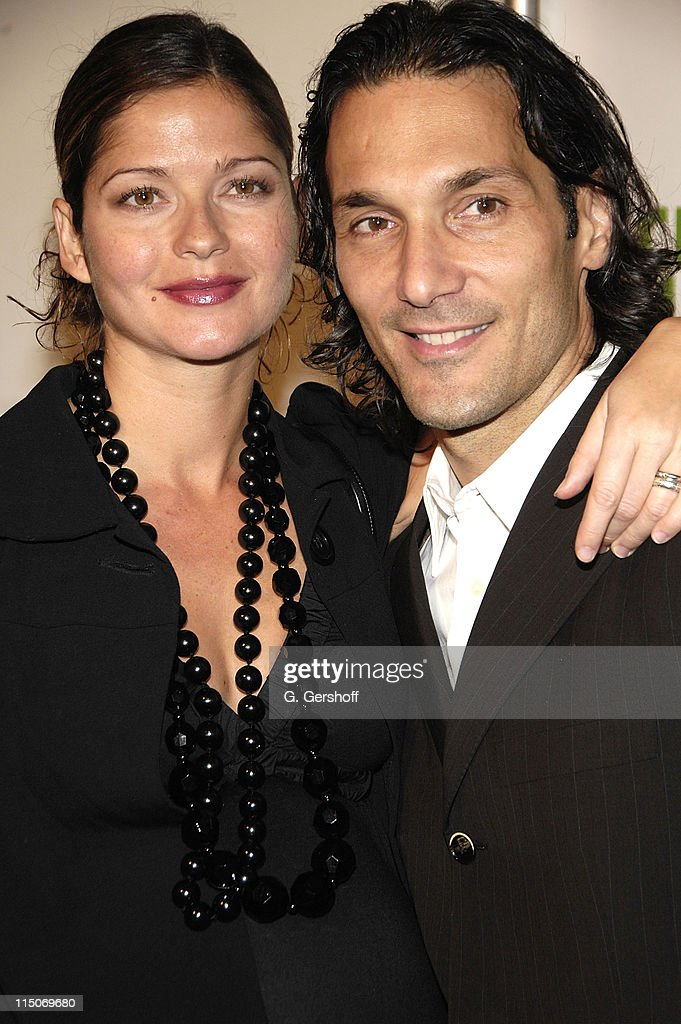 Actress Jill Hennessy and Paolo Mastropietro at the City Harvest's 'Bid Against Hunger' Benefit at Metropolitan Pavilion on October 23, 2007 in New York City.