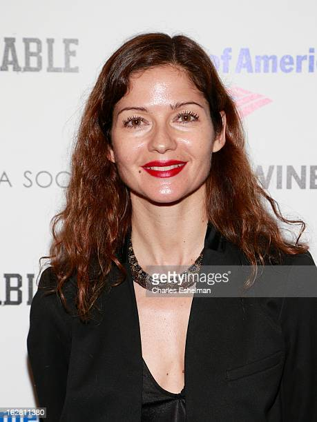 Actress Jill Hennessy arrives at Bank of America and Food Wine with The Cinema Society present a screening of 'A Place at the Table' at the Celeste...