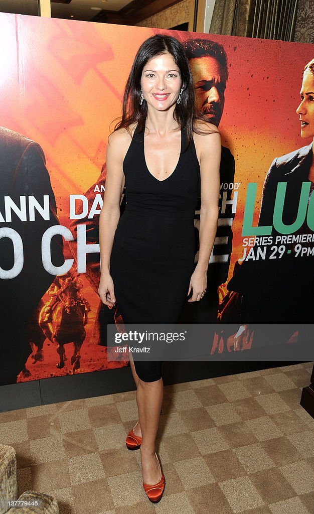 Actress Jill Hennessy arrives at the premiere of HBO's 'Luck' at THEhotel at Mandalay Bay Resort and Casino on January 26 2012 in Las Vegas Nevada