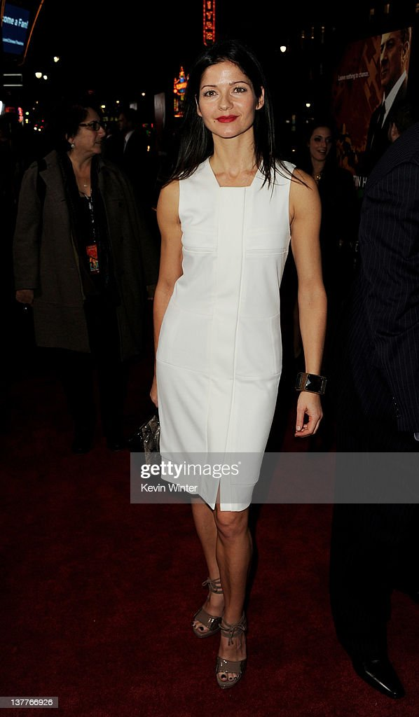 Actress Jill Hennessy arrives at the premiere of HBO's 'Luck' at the Chinese Theater on January 25, 2012 in Los Angeles, California.