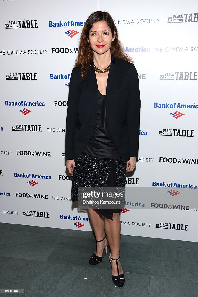 Actress Jill Hennessy attends the Bank of America and Food Wine with The Cinema Society screening of 'A Place at the Table' at Museum of Modern Art...