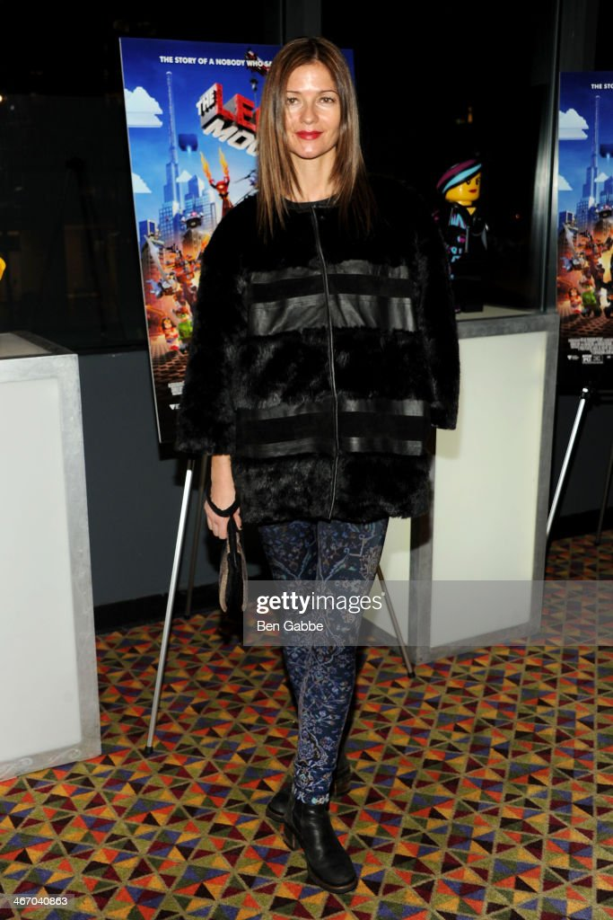Actress Jill Hennessy attends 'The LEGO Movie' screening hosted by Warner Bros Pictures and Village Roadshow Pictures at AMC Empire 25 theater on...