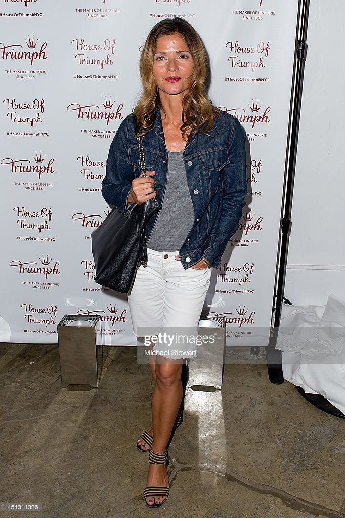 Actress jill hennessy attends triumph lingerie s magic wire launch