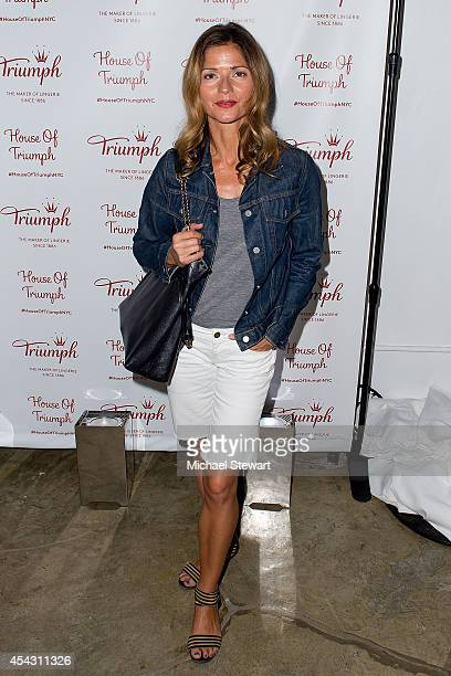 Actress Jill Hennessy attends Triumph Lingerie's Magic Wire Launch Event at The Old Bowery Station on August 28 2014 in New York City