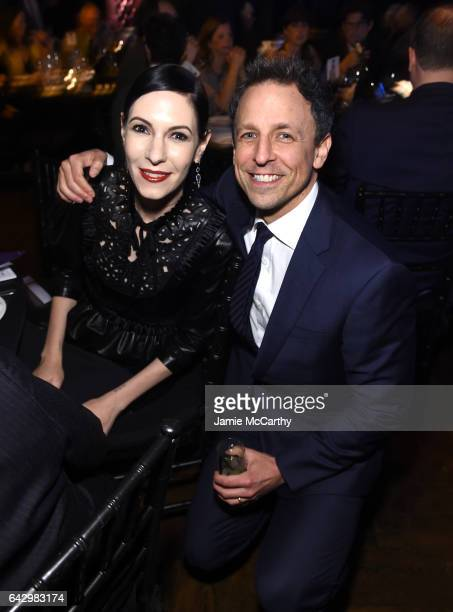 Actress Jill Kargman and comedian Seth Meyers attend 69th Writers Guild Awards New York Ceremony at Edison Ballroom on February 19 2017 in New York...