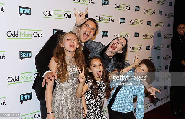 Actress Jill Kargman and family attend the Bravo Presents a special screening of 'Odd Mom Out' at Florence Gould Hall on June 3 2015 in New York City