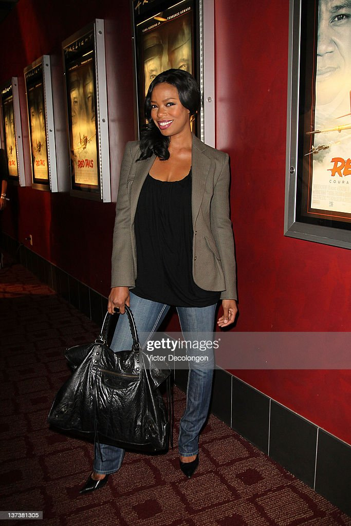 Actress Jill Marie Jones arrives for the screening of 'Red Tails' at ArcLight Cinemas on January 19 2012 in Hollywood California