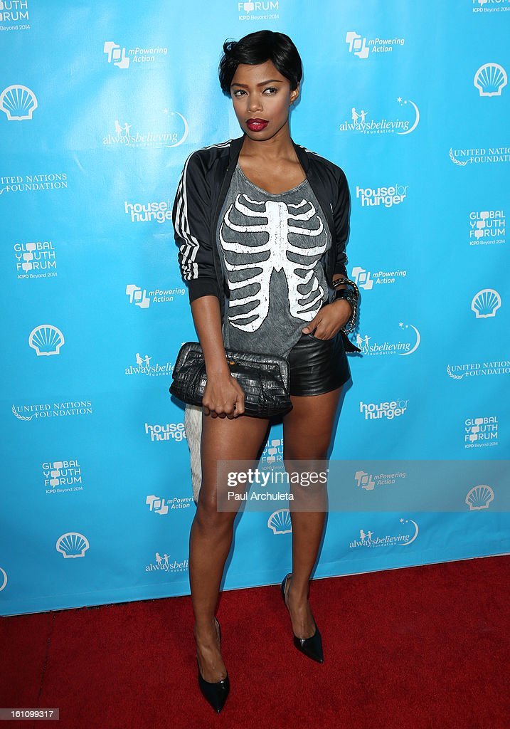 Actress Jill Marie Jones attends the 'mPowering Action' platform launch at The Conga Room at L.A. Live on February 8, 2013 in Los Angeles, California.