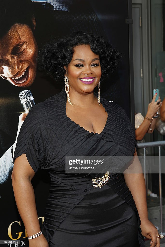 Actress Jill Scott attends the 'Get On Up' premiere at The Apollo Theater on July 21, 2014 in New York City.