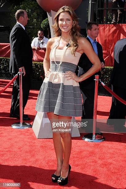 Actress Jill Wagner arrives at the 19th Annual ESPY Awards at Nokia Theatre LA Live on July 13 2011 in Los Angeles California