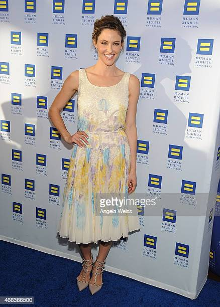 Actress Jill Wagner attends the Human Rights Campaign Los Angeles Gala 2015 at JW Marriott Los Angeles at LA LIVE on March 14 2015 in Los Angeles...