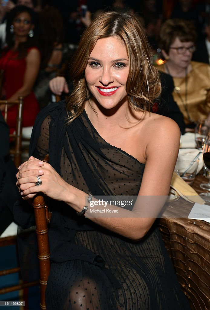 Actress Jill Wagner with Moet & Chandon at Celebrity Fight Night XIX at JW Marriott Desert Ridge Resort & Spa on March 23, 2013 in Phoenix, Arizona.
