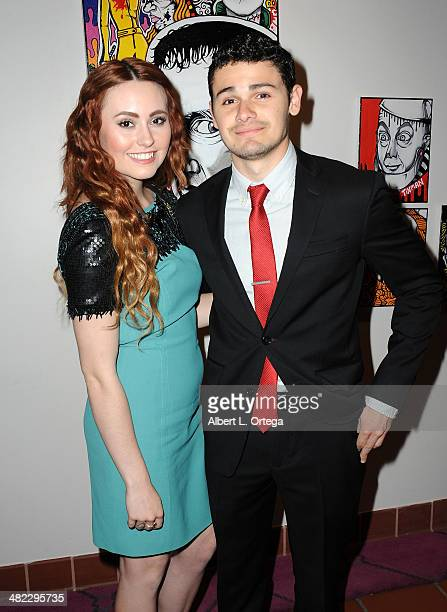 Actress Jillian Clare and actor Brett Delby attend 5th Annual Indie Series Awards held at El Portal Theatre on April 2 2014 in North Hollywood...