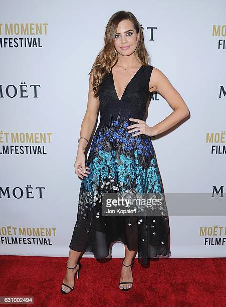 Actress Jillian Murray arrives at Moet And Chandon Celebrates 2nd Annual Moet Moment Film Festival And Kick Off Of Golden Globes Week at Doheny Room...