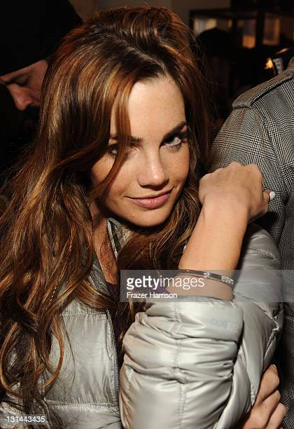 Actress Jillian Murray flashing her new lia sophia bling at the Samsung Galaxy Tab Lift on January 22 2011 in Park City Utah