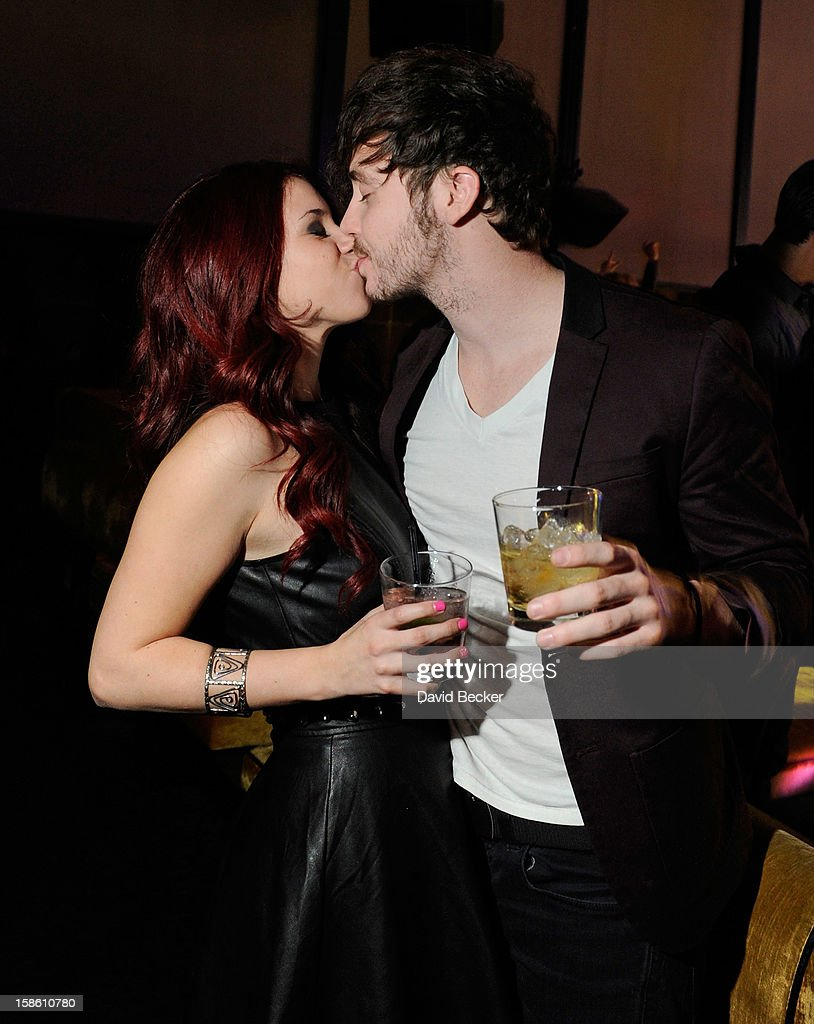 Actress Jillian Rose Reed (L) and actor Marty Shannon celebrate her 21st birthday at Haze Nightclub at the Aria Resort & Casino at CityCenter on December 20, 2012 in Las Vegas, Nevada.