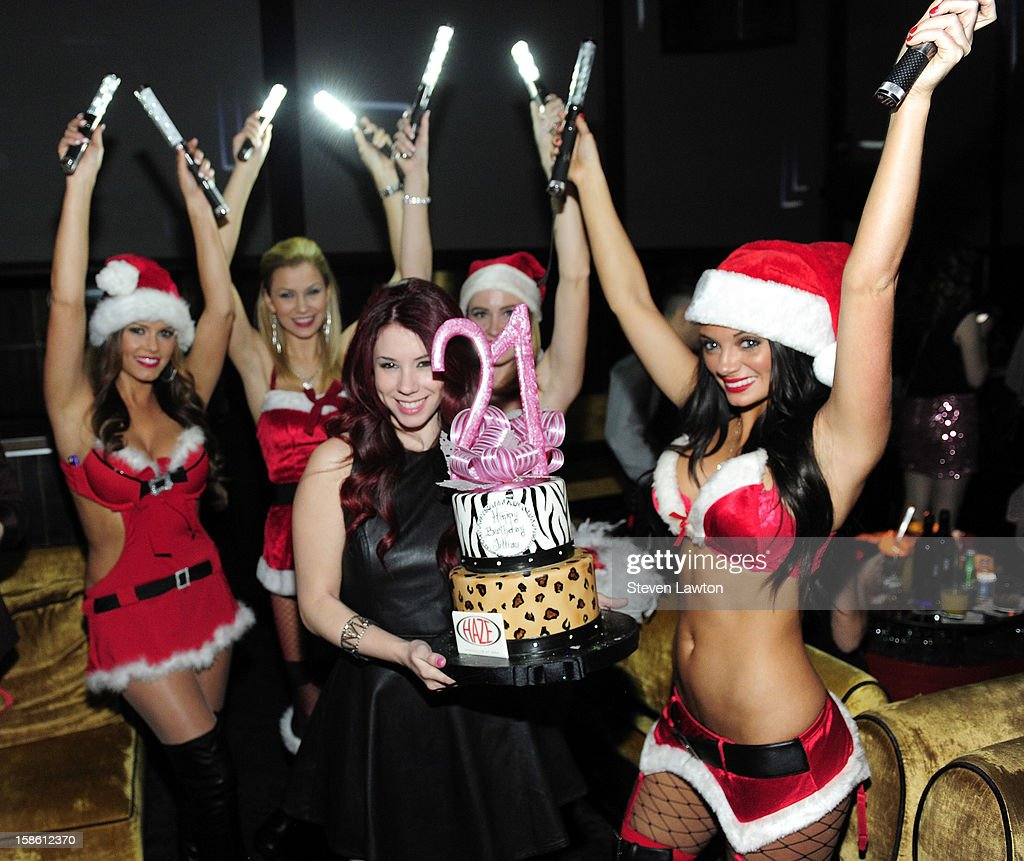 Actress Jillian Rose Reed appears at Haze Nightclub at the Aria Resort & Casino at CityCenter to celebrate her 21st birthday on December 20, 2012 in Las Vegas, Nevada.