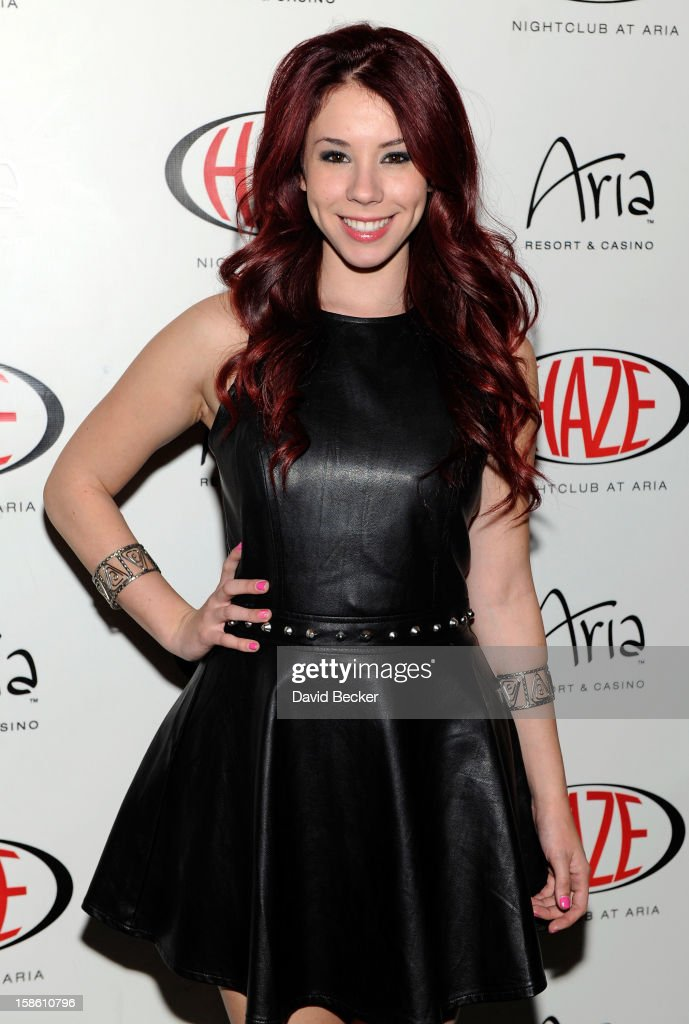 Actress Jillian Rose Reed arrives at Haze Nightclub at the Aria Resort & Casino at CityCenter to celebrate her 21st birthday on December 20, 2012 in Las Vegas, Nevada.