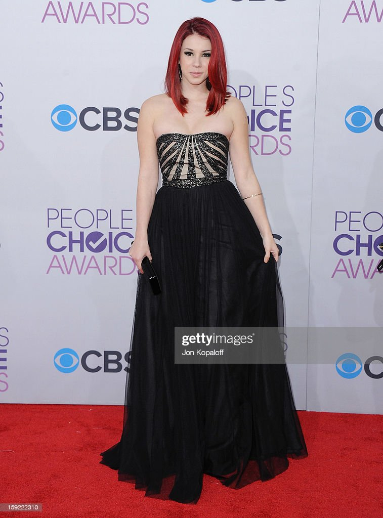 Actress Jillian Rose Reed arrives at the 2013 People's Choice Awards at Nokia Theatre L.A. Live on January 9, 2013 in Los Angeles, California.