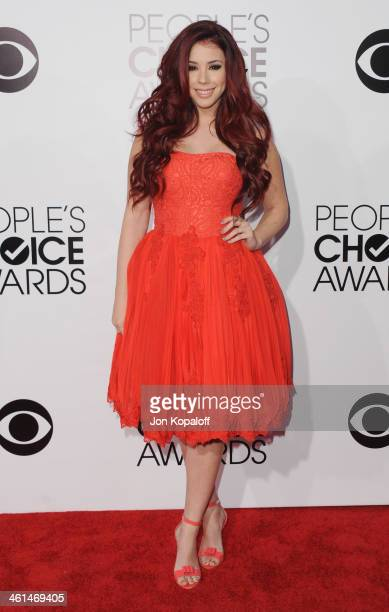 Actress Jillian Rose Reed arrives at The 40th Annual People's Choice Awards at Nokia Theatre LA Live on January 8 2014 in Los Angeles California